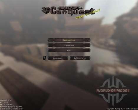 Conquest [64x][1.7.2] для Minecraft