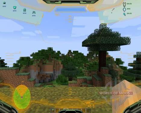 Halo HUD [1.7.2] для Minecraft