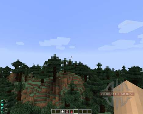 ArmorStatusHUD [1.7.2] для Minecraft