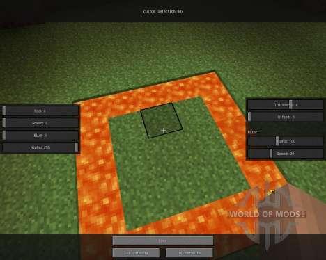 Custom Selection Box [1.6.2] для Minecraft