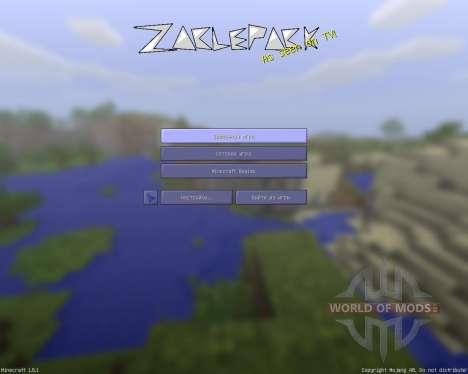 ZaclePack [128x][1.8.1] для Minecraft