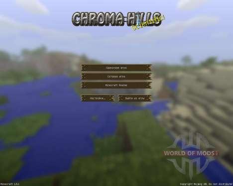ChromaHills RPG [64x][1.8.1] для Minecraft