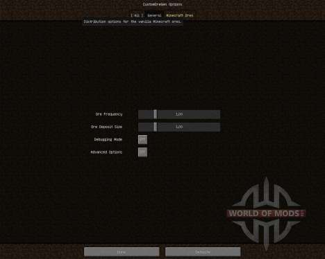 Custom Ore Generation Revival [1.7.2] для Minecraft