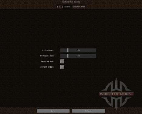 Custom Ore Generation Revival [1.6.2] для Minecraft