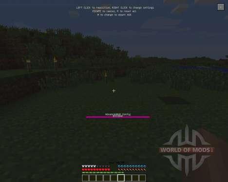 Advanced HUD [1.6.2] для Minecraft