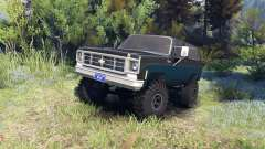 Chevrolet K5 Blazer 1975 black and blue для Spin Tires