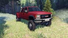 GMC Suburban 1995 Crew Cab Dually red для Spin Tires