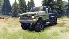 Ford F-100 6x6 v2.0 для Spin Tires