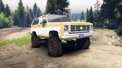 Chevrolet K5 Blazer 1975 light saddle and white для Spin Tires