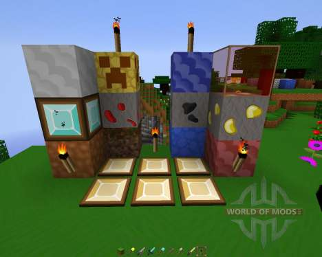 Sworp (HD-Cartoon) Resource Pack [64x][1.8.8] для Minecraft