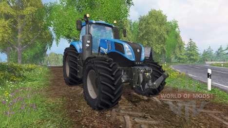 New Holland T8.320 v2.3 для Farming Simulator 2015