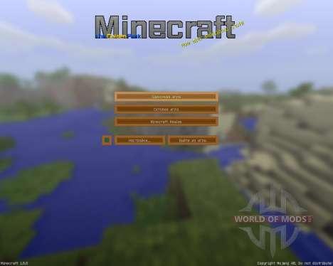 The Golden HD Resource Pack [32x][1.8.8] для Minecraft