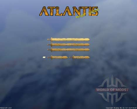 Royal Atlantean GUI Pack [16x][1.8.8] для Minecraft