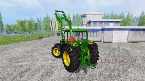 John Deere 6630 Premium front loader для Farming Simulator 2015