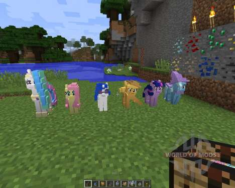 The My Little Pony Model Pack [32x][1.8.1] для Minecraft