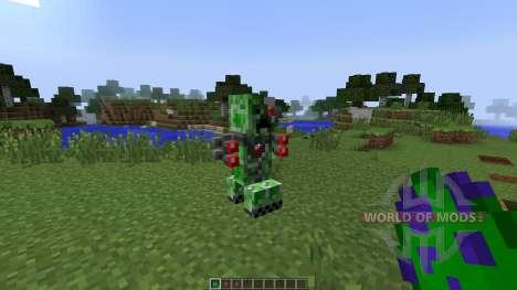 Laser Creeper Robot Dino Riders [1.7.10] для Minecraft