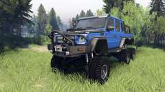 Mercedes-Benz G65 AMG 6x6 Final blue pearl для Spin Tires