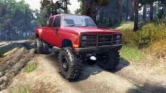 Chevrolet Silverado Dually Crew Cab v1.4 red для Spin Tires