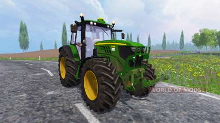 John Deere 6140M для Farming Simulator 2015