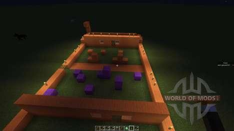 Paint ball map для Minecraft