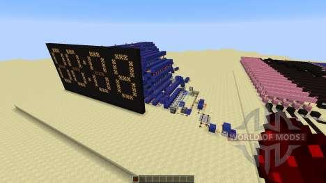 Redstone Calculator and Redstone Digital Clock для Minecraft