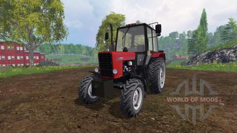 МТЗ-82.1 Беларус v2.0 красный для Farming Simulator 2015