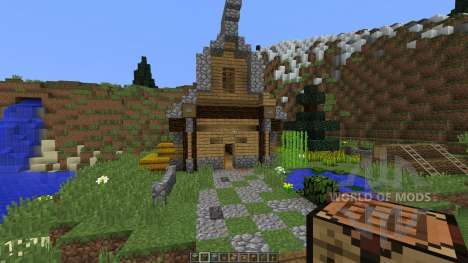Medieval House on a little Island для Minecraft