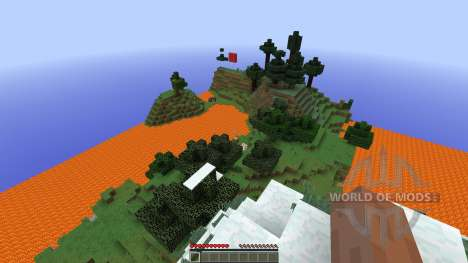 lava lake survival для Minecraft