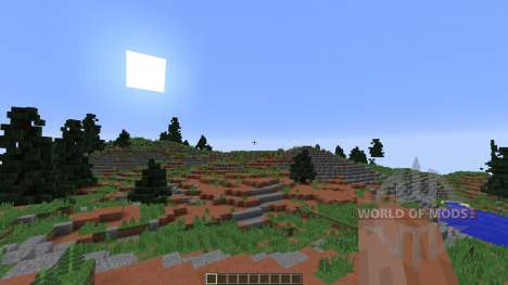 Fog Islands Custom terrain для Minecraft