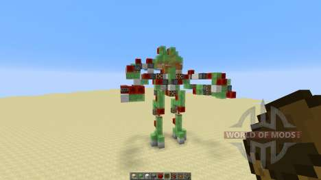 Atlas Mech Suit with Missile Launcher для Minecraft
