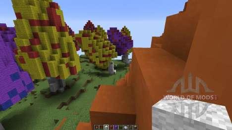 Mushroom sky island для Minecraft