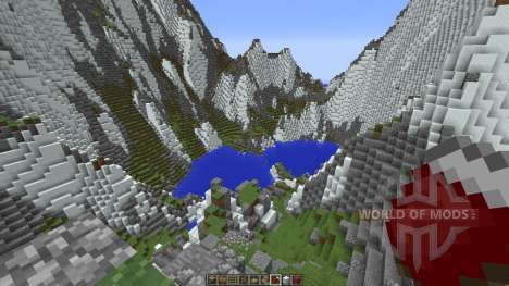 Mountainside Realistic Terrain для Minecraft