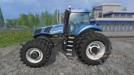 New Holland T8.320 row crop duals для Farming Simulator 2015