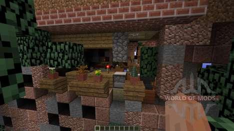 Overgrown town port для Minecraft