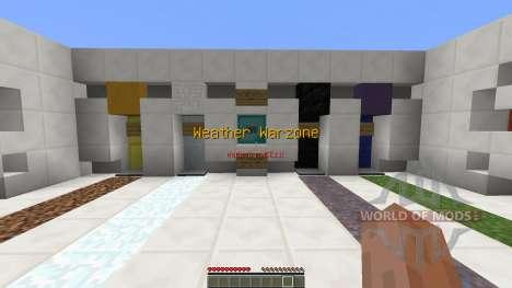 Weather Warzone PvP Map для Minecraft