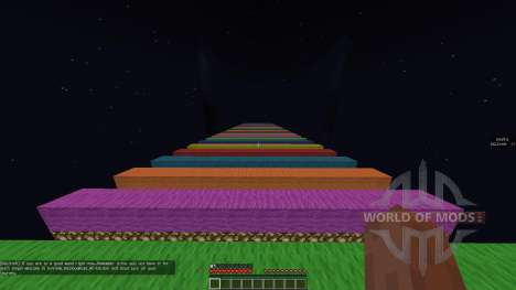 Extreme Rainbow Road [1.8][1.8.8] для Minecraft