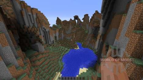 Mountain map для Minecraft