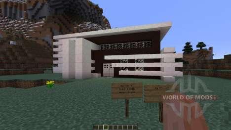 Black White Modern house для Minecraft