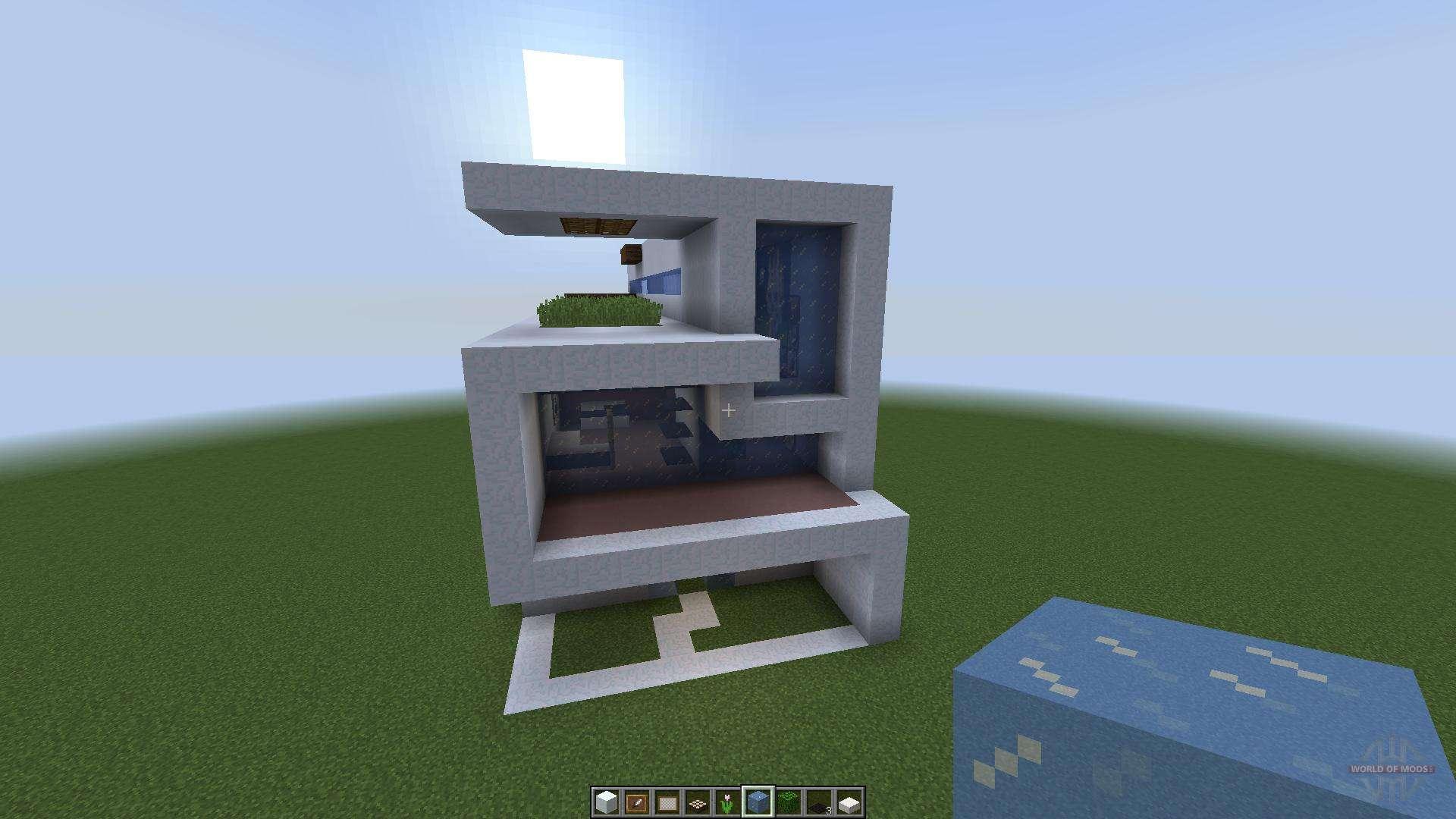 инструкция как сделать модерн хаус в маинкравте