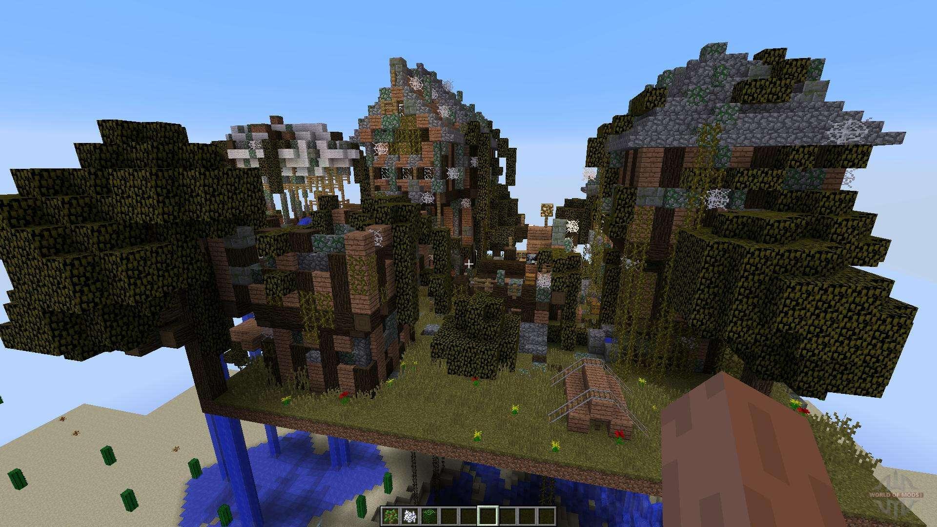 карта заброшенный город для майнкрафт #8