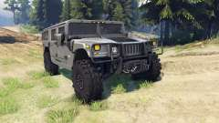 Hummer H1 army grey для Spin Tires