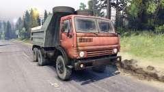 КамАЗ-5511 красная решётка для Spin Tires