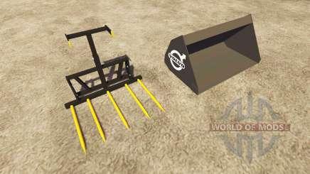 Ковш и вилы Volvo для Farming Simulator 2013