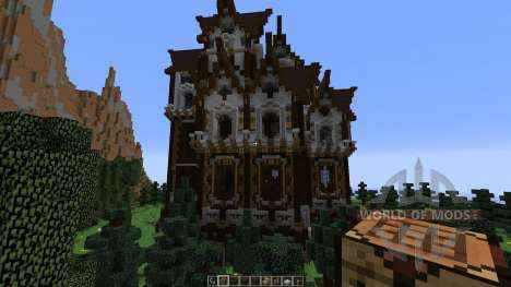 Slenders Mansions A Gothic Style Build для Minecraft