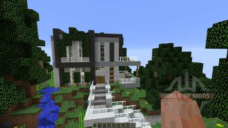 Modern Cliffside House для Minecraft