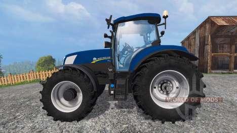 New Holland T7.270 blue power v1.1 для Farming Simulator 2015