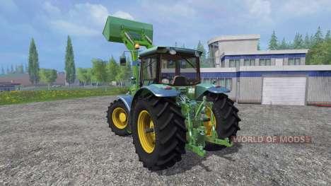 John Deere 7930 with front loader для Farming Simulator 2015