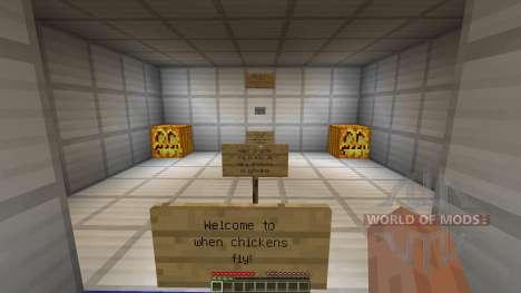 When chickens fly для Minecraft