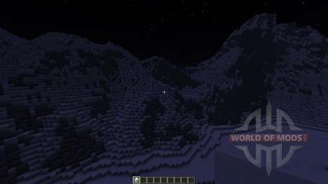 Realistic Snowy Mountains Costum Terrain для Minecraft