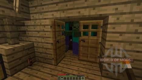 Outlandia desert island with buildings для Minecraft